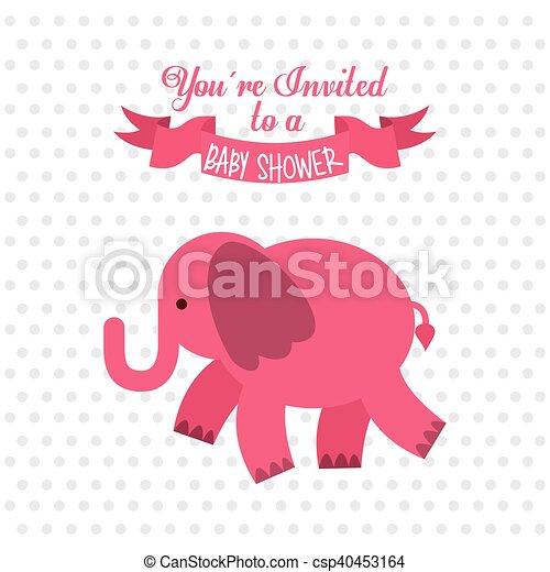 Baby Shower Invitation Card Vector Illustration Design Clip Art