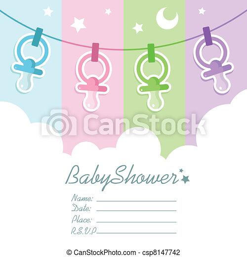 Baby Shower Invitation Cards - csp8147742