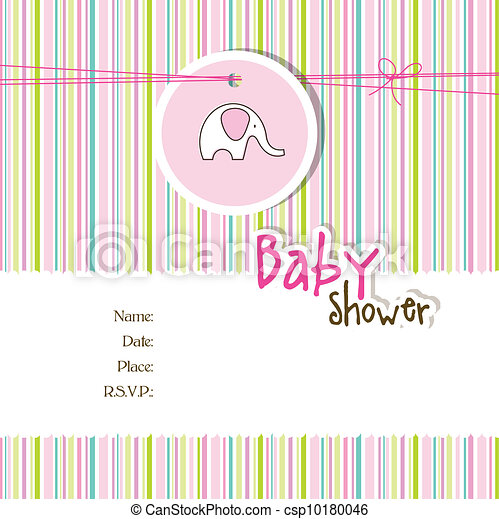 Baby shower invitation - csp10180046