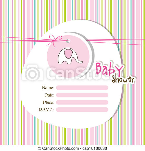 Baby shower invitation - csp10180038