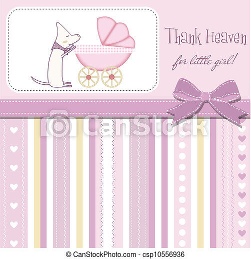 baby shower invitation - csp10556936