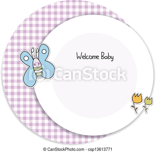 baby shower invitation - csp13613771
