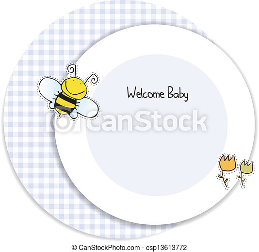 baby shower invitation - csp13613772
