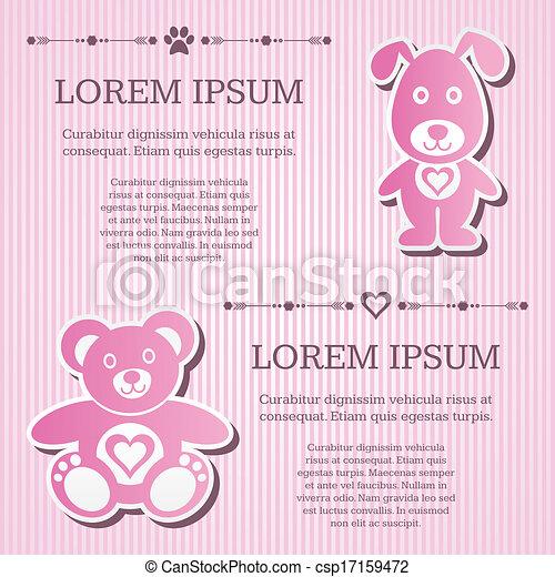 Baby shower invitation - csp17159472