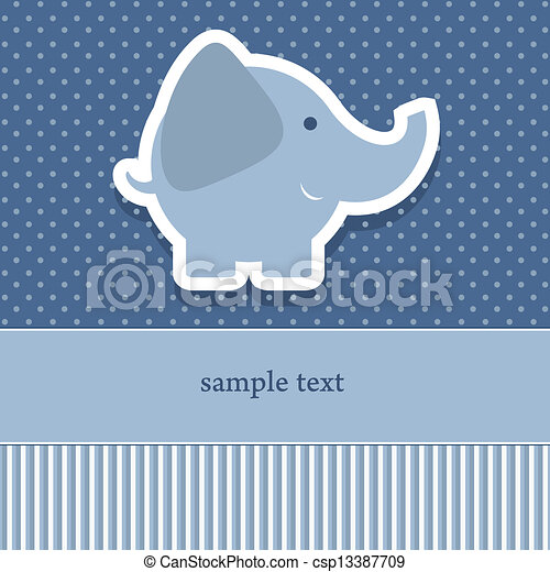 Baby shower invitation template vector illustration cute elphant baby shower invitation template csp13387709 stopboris Image collections