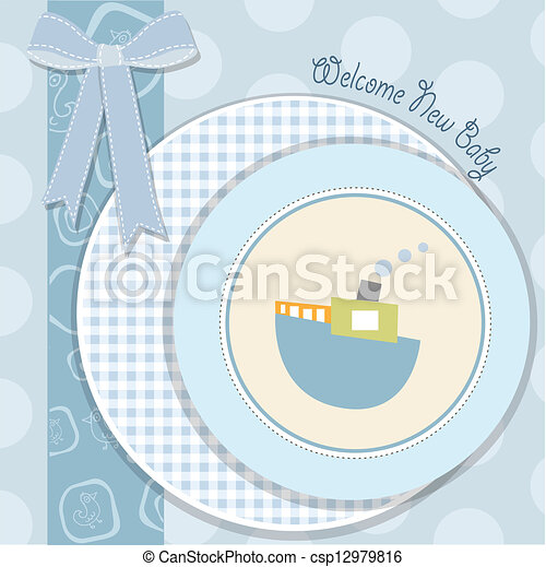 baby shower invitation - csp12979816