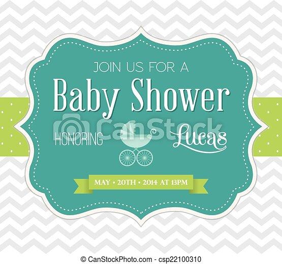 Baby Shower Invitation - csp22100310