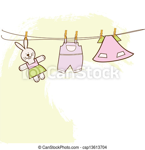 baby shower invitation - csp13613704