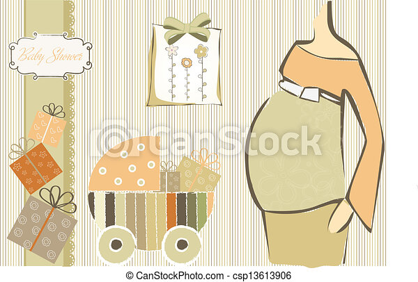 baby shower invitation - csp13613906