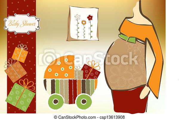 baby shower invitation - csp13613908