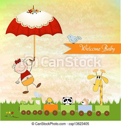 baby shower invitation - csp13623405