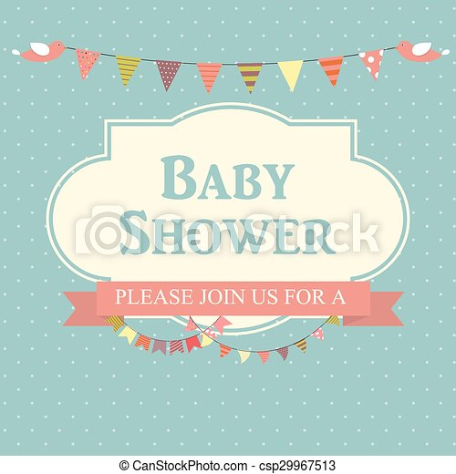 Baby shower invitation vector illustration eps10 baby shower invitation vector illustration stopboris Choice Image
