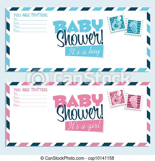 Baby shower invitations baby shower invitation envelopes clipart baby shower invitations csp10141158 filmwisefo