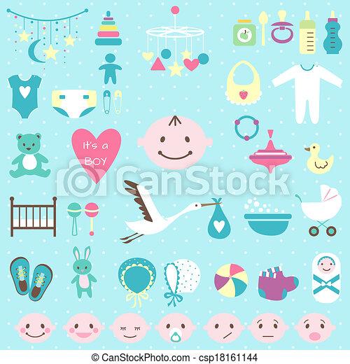 Baby shower set for boy - csp18161144