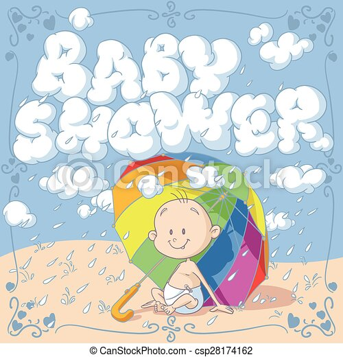 Baby shower vector cartoon invitation vector cartoon of a funny baby shower vector cartoon invitation stopboris Image collections