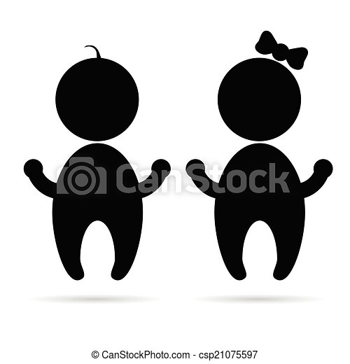 baby sign vector silhouette - csp21075597