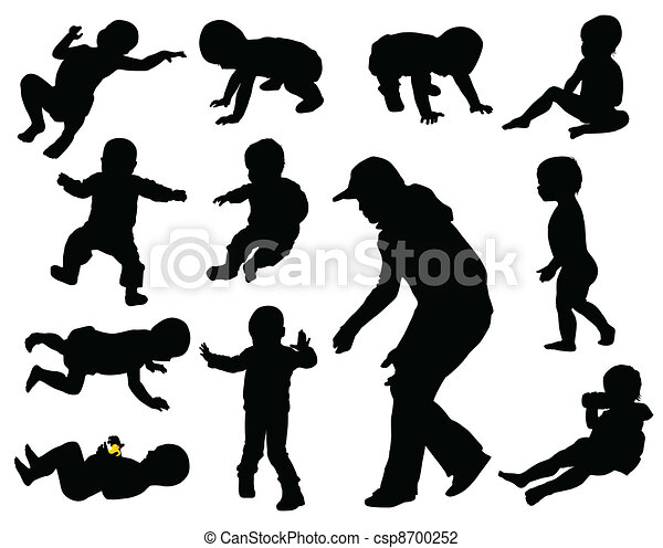 Baby silhouettes - csp8700252