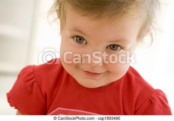 baby, smil, indendørs - csp1893490