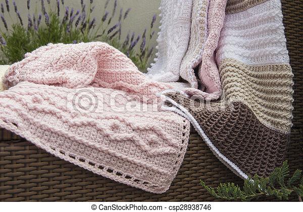Baby Sofa Dekens Haken Breien Kabel Sofa Lavendel Hoog