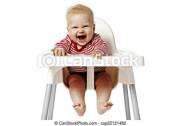 Baby Zitten Stoel.Baby Stoel Zittende Zittende Na Eating Mond Vieze Baby
