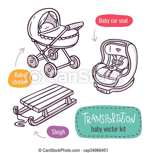 Baby Stroller Car Seat And Sleigh