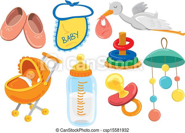 baby stuff cartoon icon rh canstockphoto com baby boy stuff clipart baby stuff clipart