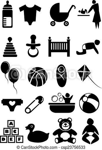 Baby Stuff Icon Set - csp23756533