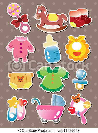 baby stuff stickers clipart vector search illustration drawings rh canstockphoto com baby supplies clipart baby supplies clipart