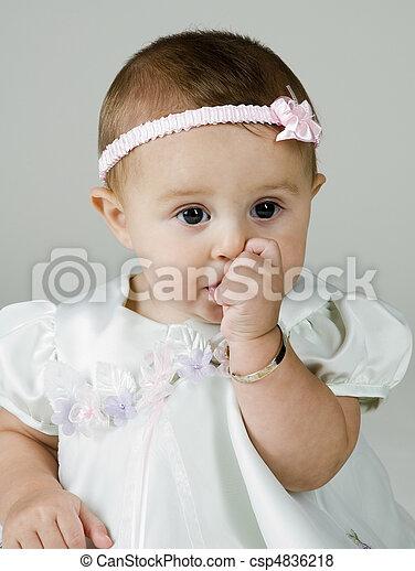 Baby Sucking on Thumb - csp4836218