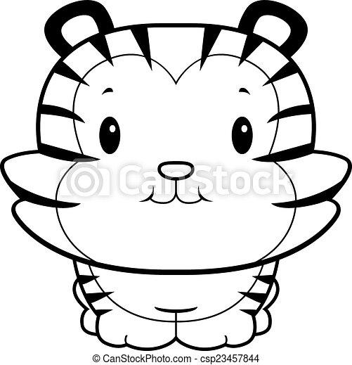 a happy cartoon baby tiger cub smiling eps vector search clip art rh canstockphoto com