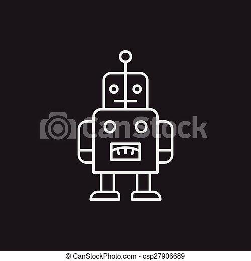 baby toy robot line icon - csp27906689