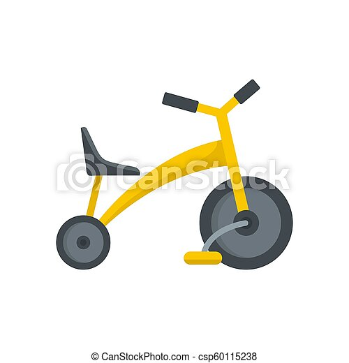 Baby tricycle icon, flat style - csp60115238