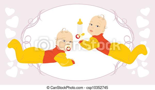 Baby twins. - csp10352745
