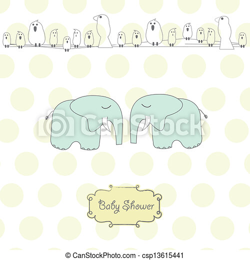 baby twins shower card - csp13615441