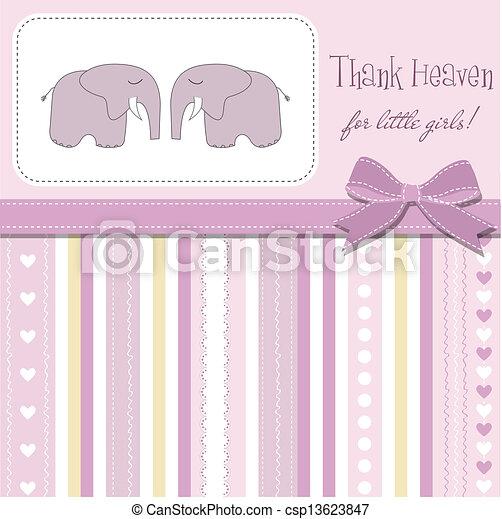 baby twins shower card - csp13623847