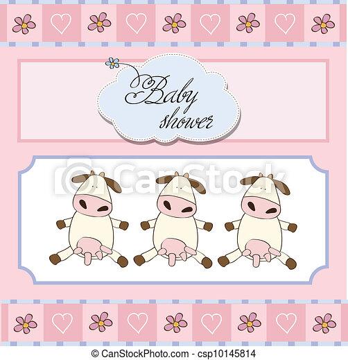 baby twins shower card - csp10145814