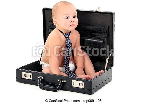 baby, vastknopen, zakelijk - csp0091105