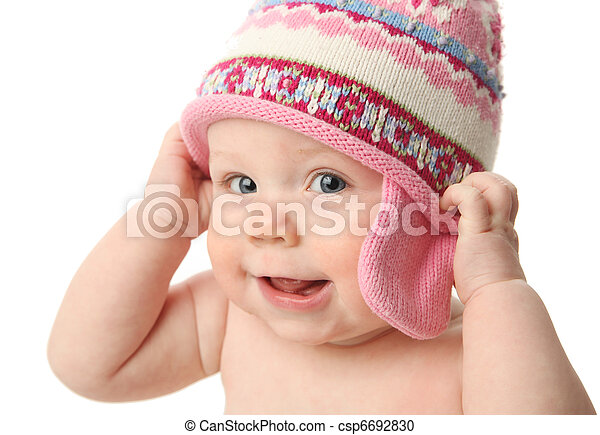f4bbed3f6 Baby wearing winter hat