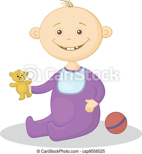 Baby with a toys - csp9556525