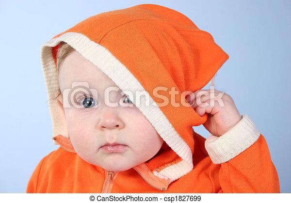 baby with biggin - csp1827699
