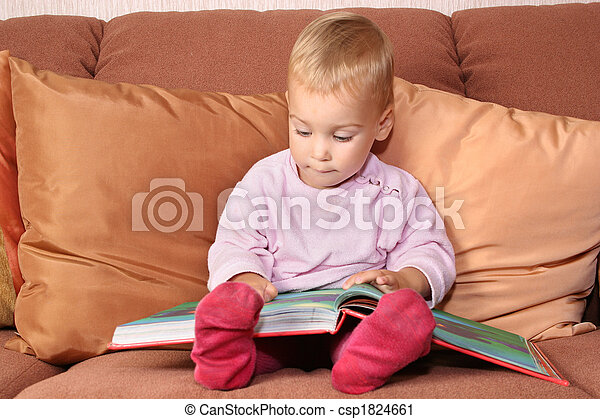 baby with book - csp1824661