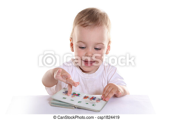 baby with book - csp1824419