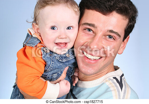 baby with father - csp1827715