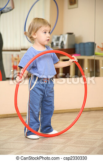 baby with hoop - csp2330330