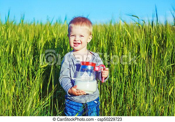 baby with milk - csp50229723