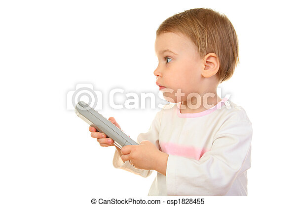 baby with remote control - csp1828455