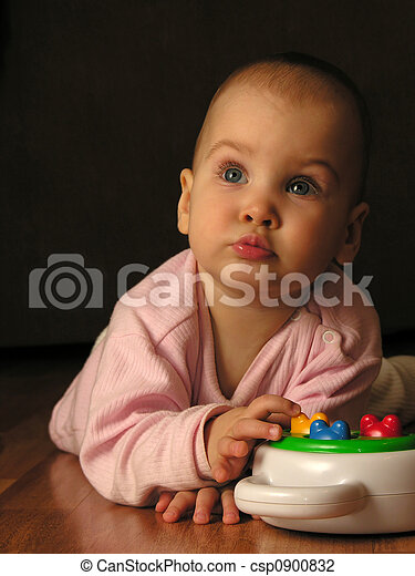 baby with toy - csp0900832