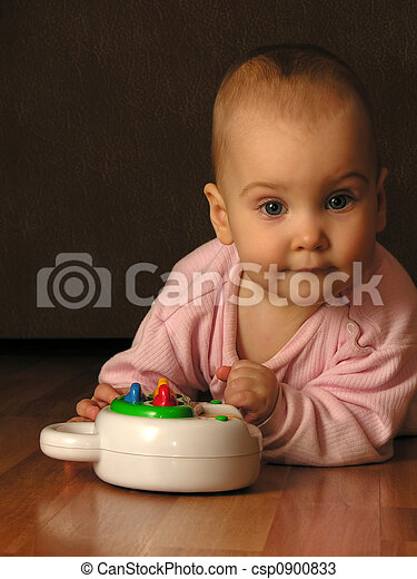 baby with toy - csp0900833