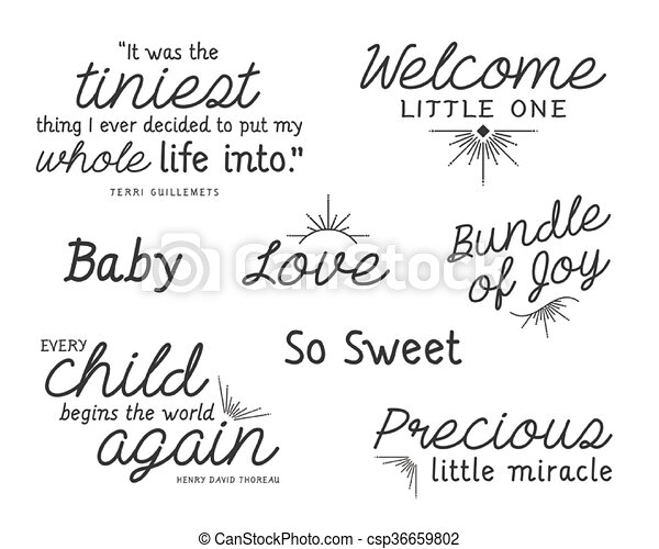 Baby Word Overlay Quotes Set