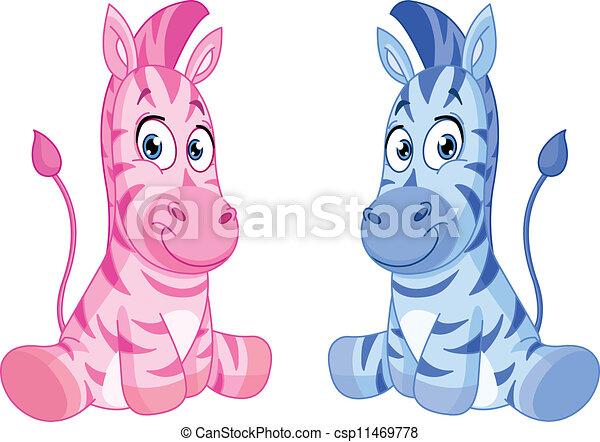 Baby zebras - csp11469778